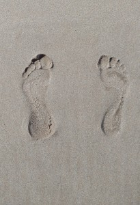Feet Imprint in Sand