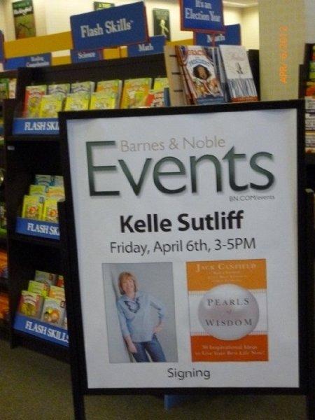 Kelle Sutliff Barnes & Noble  Pearl's of Wisdom  Book Signing